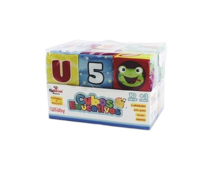 Conjunto Cubos Educativos 10 Peças