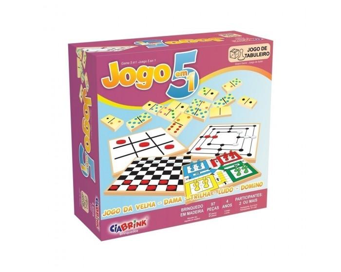 Jogo 5 em 1 em  Caixa Cartonada