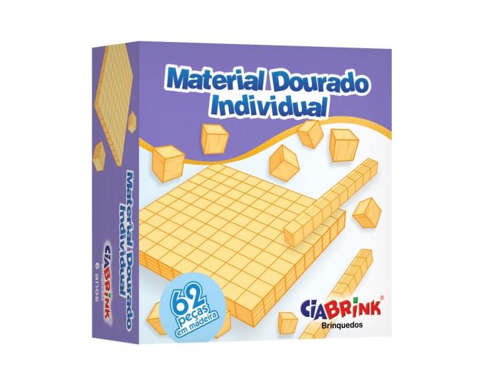 Material Dourado com 62 Peças Cx Cartonada