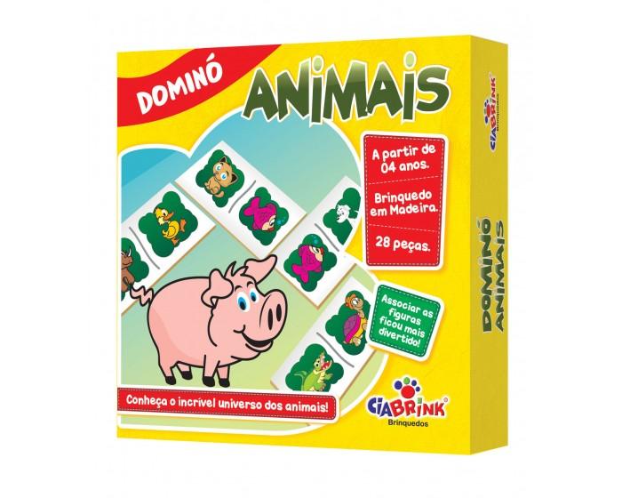 Jogo de Dominó Animais em Caixa Cartonada