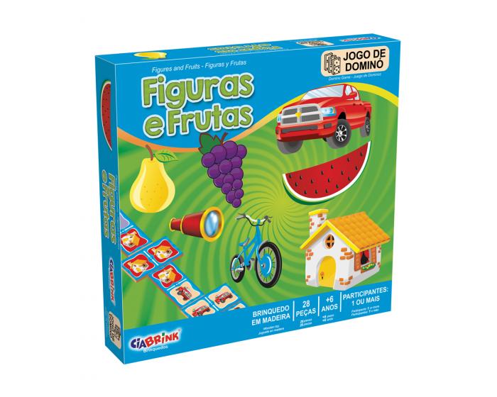 Jogo de Dominó Figuras e Frutas