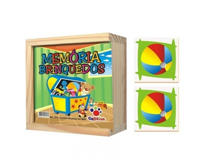 Jogo da Memória Brinquedos Caixa em Madeira