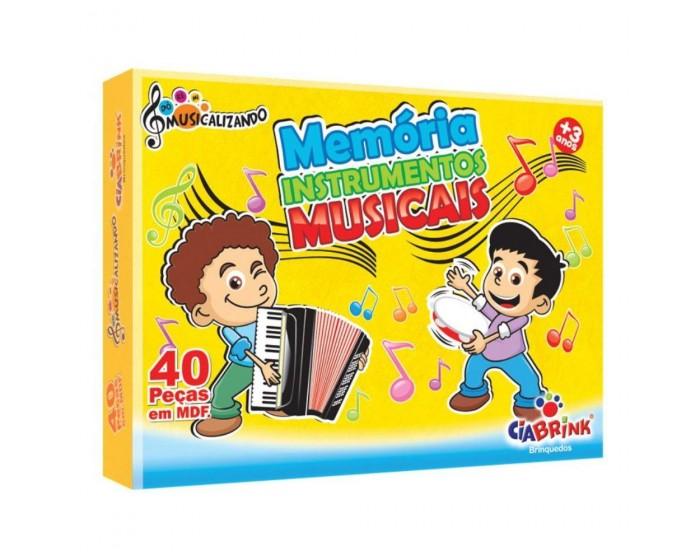Jogo da Memória Instrumentos Musicais em Caixa Cartonada