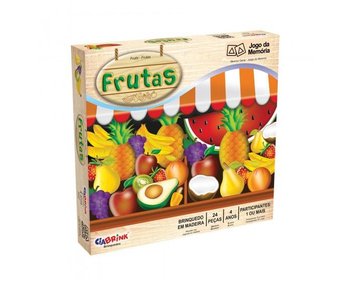 Jogo de Memória Frutas Cx Cartonada