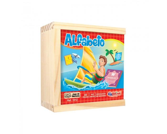Jogo da Memória Alfabetização Caixa em Madeira