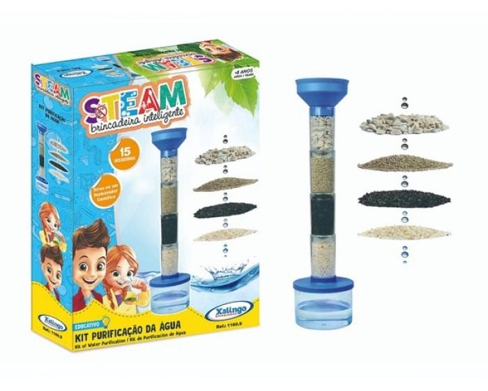 Brinquedo Educativo Steam Kit Purificação da Água