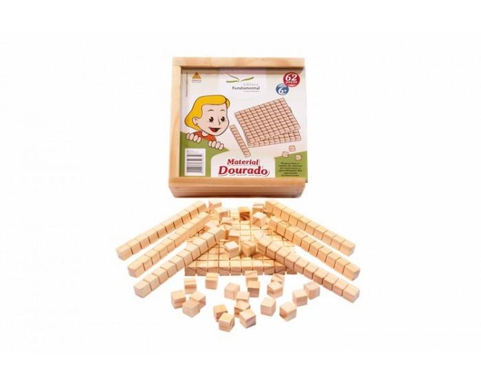 Material Dourado Individual c/ 62 peças Cx. Madeira