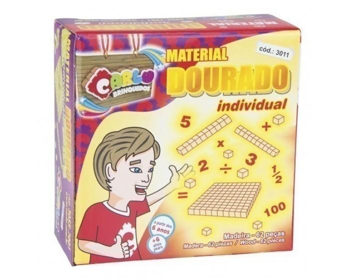 Material dourado individual 62 peças
