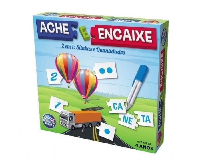 Jogo Ache e Encaixe Silabas e Quantidades