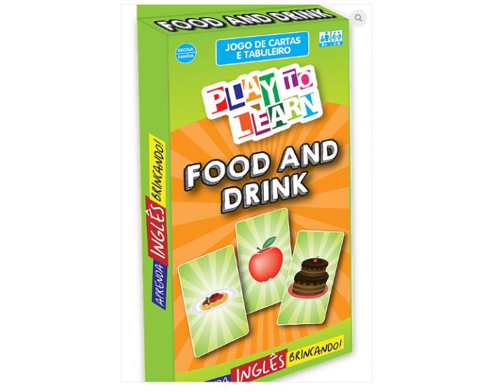 Jogo de Cartas da Memória e Tabuleiro Food and Drinks