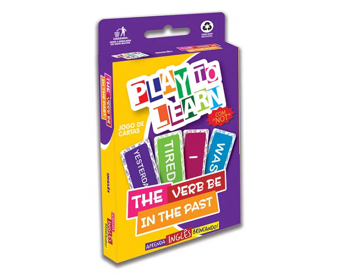 Jogo de Cartas The Verb Be in the Past