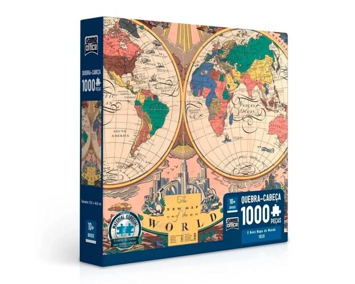 Quebra-Cabeça O Novo Mapa do Mundo 1928