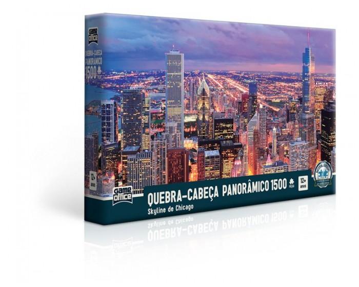 Quebra-cabeça Skyline de Chicago 1500 Peças Panorâmico
