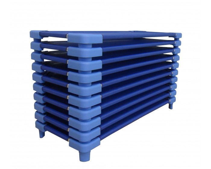 Kit com 10 Caminhas Empilháveis Azuis
