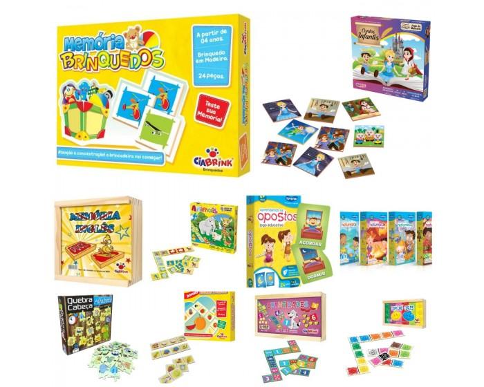 Kit com 10 Jogos Diversos