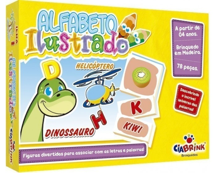 Alfabeto Ilustrado em Cx Cartonada
