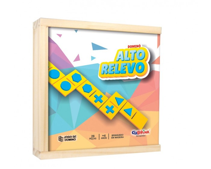 Jogo de Dominó Braille Caixa em Madeira