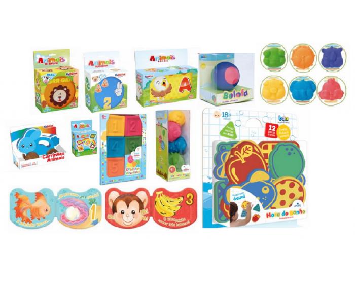 Kit Baby com 11 Brinquedos infantis