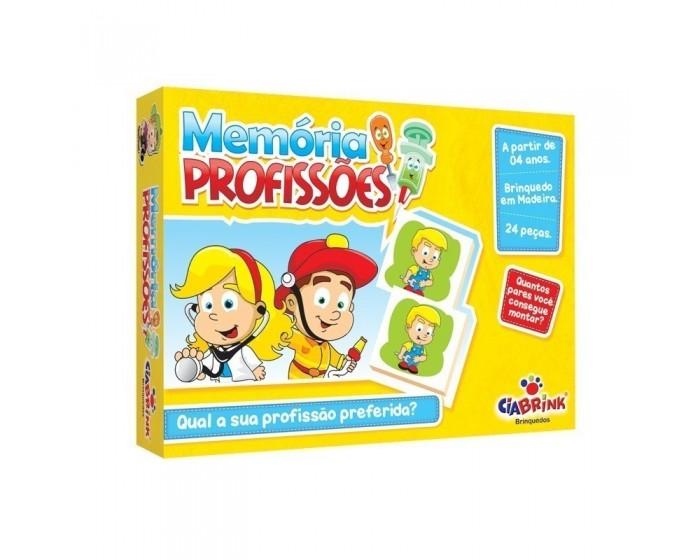 Jogo da Memória Profissões em Caixa Cartonada