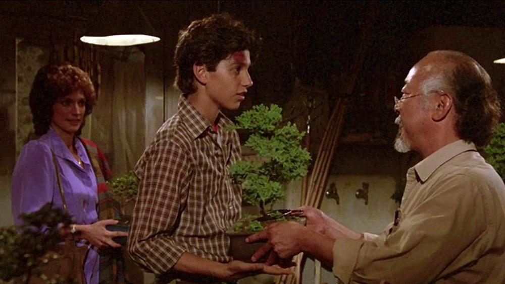 Karate Kid. Daniel San recebe Bonsai do Sr. Miyagi