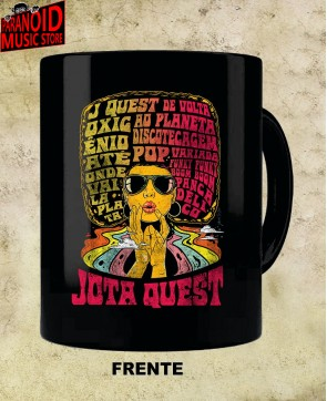 Full Black Mug - Jota Quest The Power of the Wig 01 Official - Paranoid Music Store