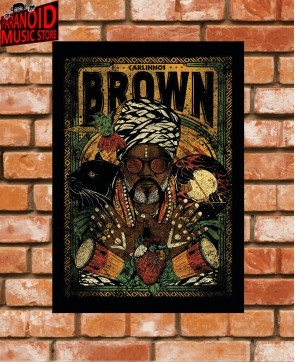 Poster / Frame Carlinhos Brown 02 Official - A3 / A4 Paranoid Music Store