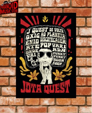 Poster / Frame Jota Quest The Power of the Wig 02 Official - A3 / A4 Paranoid Music Store