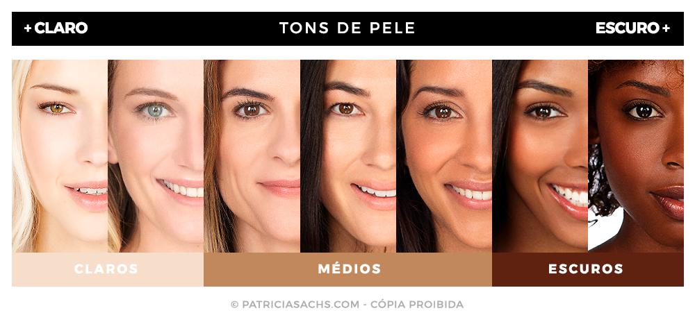 Resultado de imagem para tons de pele maquiagem