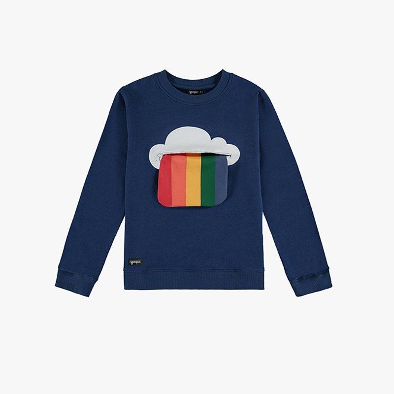 Sweatshirt Rainbow Zipper