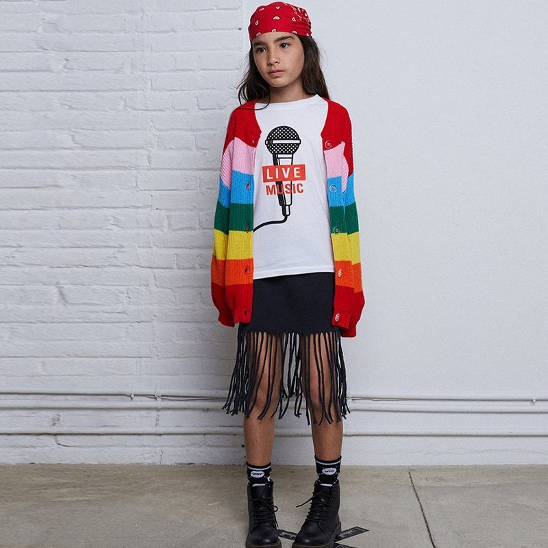 Cardigan Rainbow Knitted
