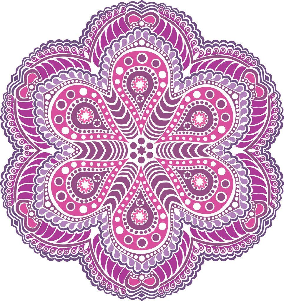 Mandala com vários tons de lilás