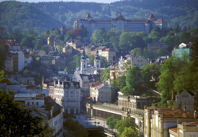 karlovy_vary, na Republica Tcheca, panoramica