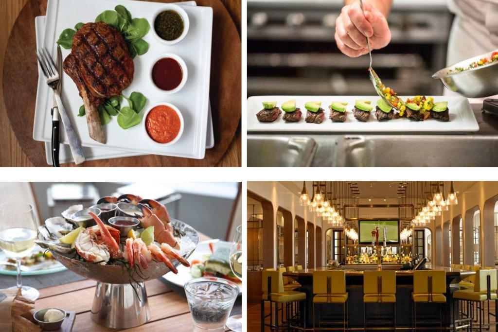 pratos do Edge Steak Miami no Four Seasons