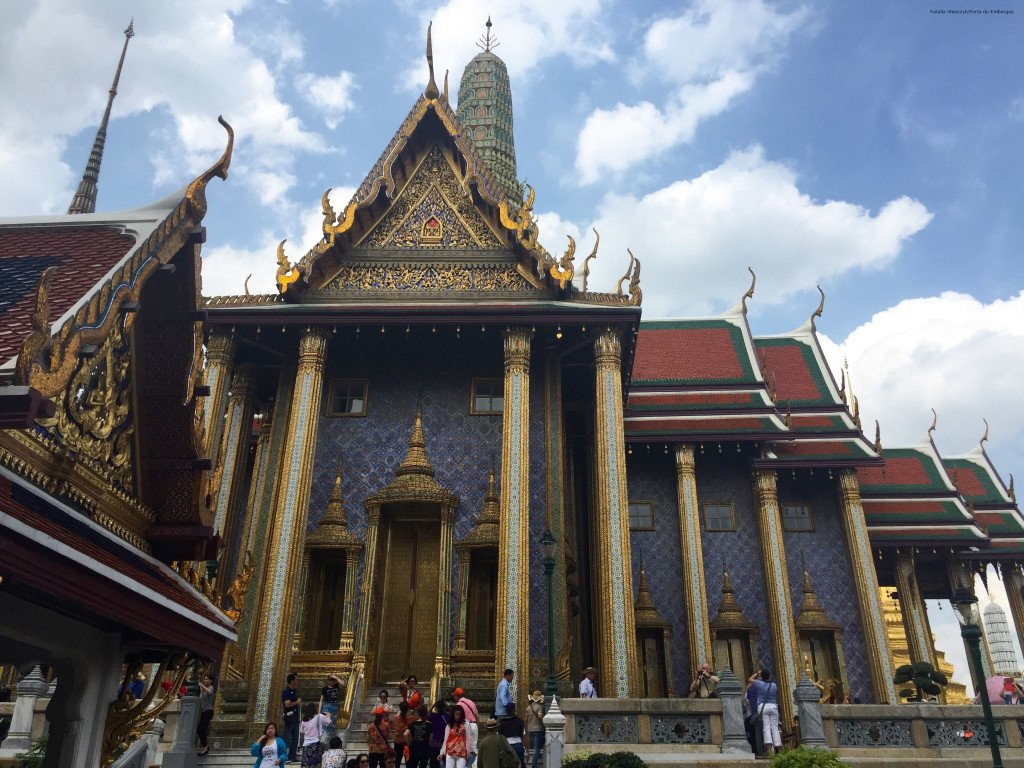 A suntuosidade do Grand Palace, em Bangkok