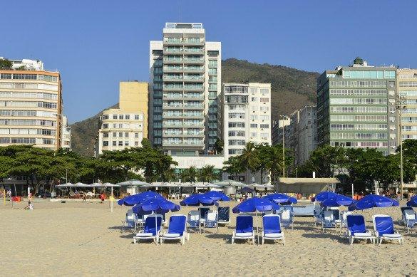 O Pestana Rio Atlantica é na frente da praia do Rio de Janeiro