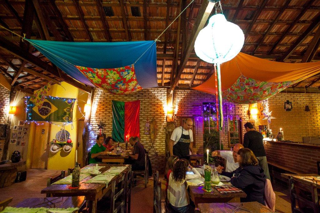 Restaurante da pousada Vizinho das Estrelas