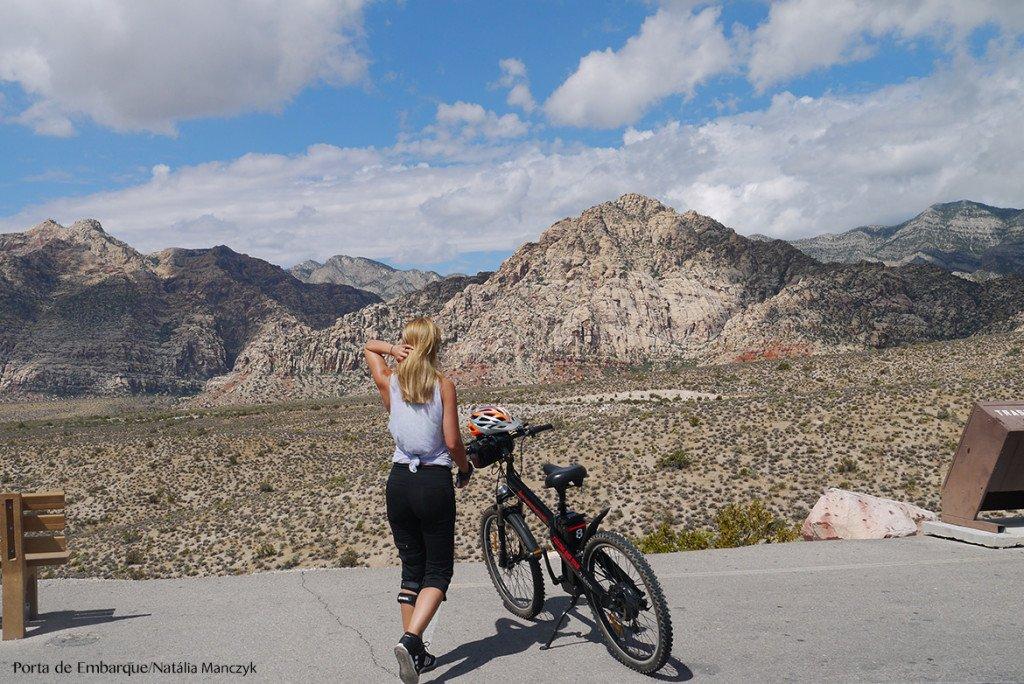 O Red Rock Canyon de bike...
