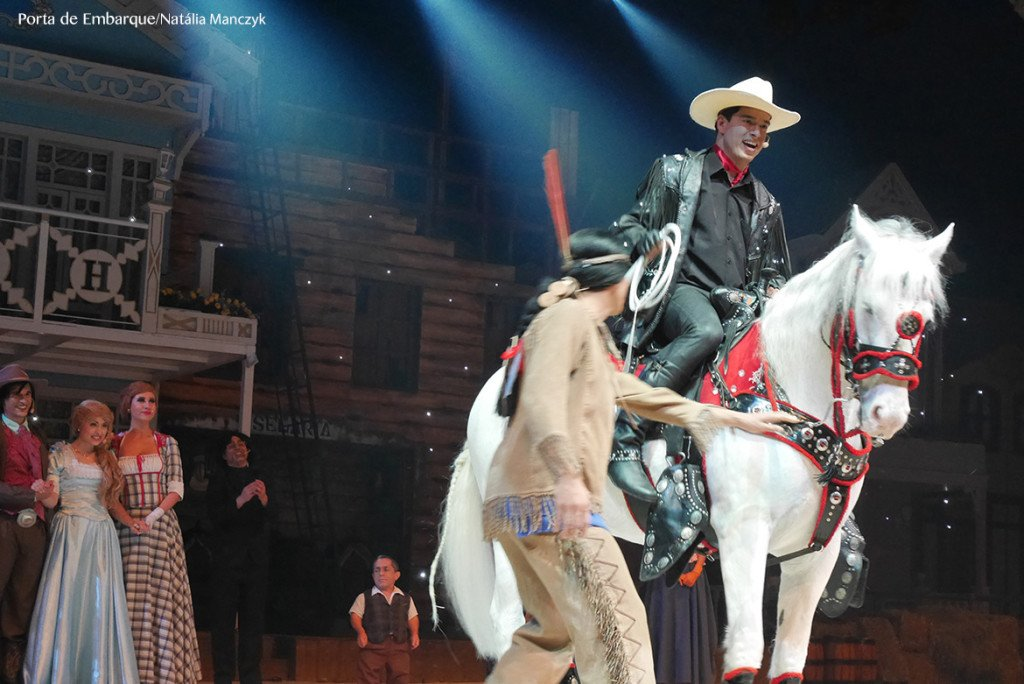 O musical O sonho do Cowboy é o último do dia no Beto Carrero World