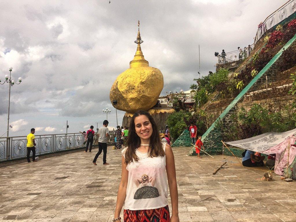 Pedra dourada de Myanmar