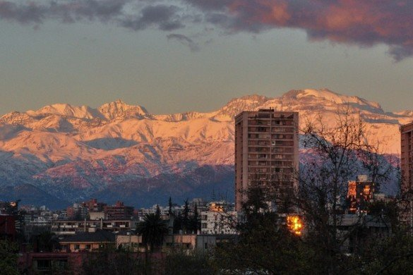 montanhas nevadas santiago Chile