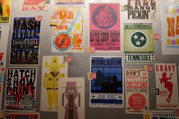 Hatch Show Print Nashville05 585x391 - O que fazer em Nashville, a cidade do country