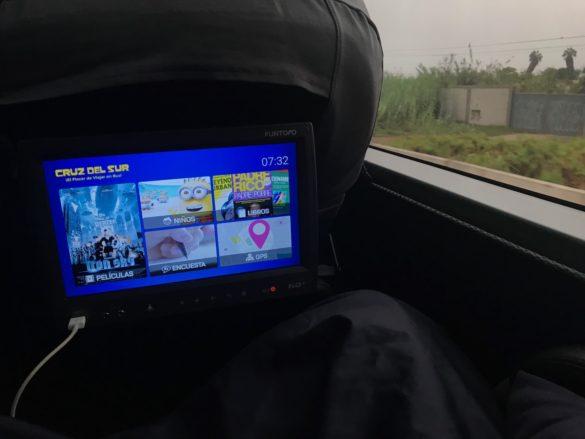 Viagem para Paracas Onibus5 585x439 - Dicas para a sua viagem para Paracas, no Peru