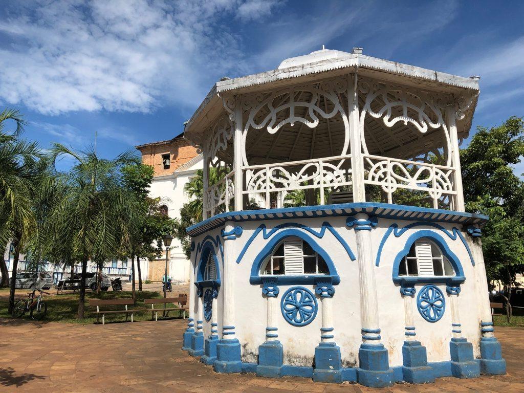a Praça do Coreto em Cidade de Goiás