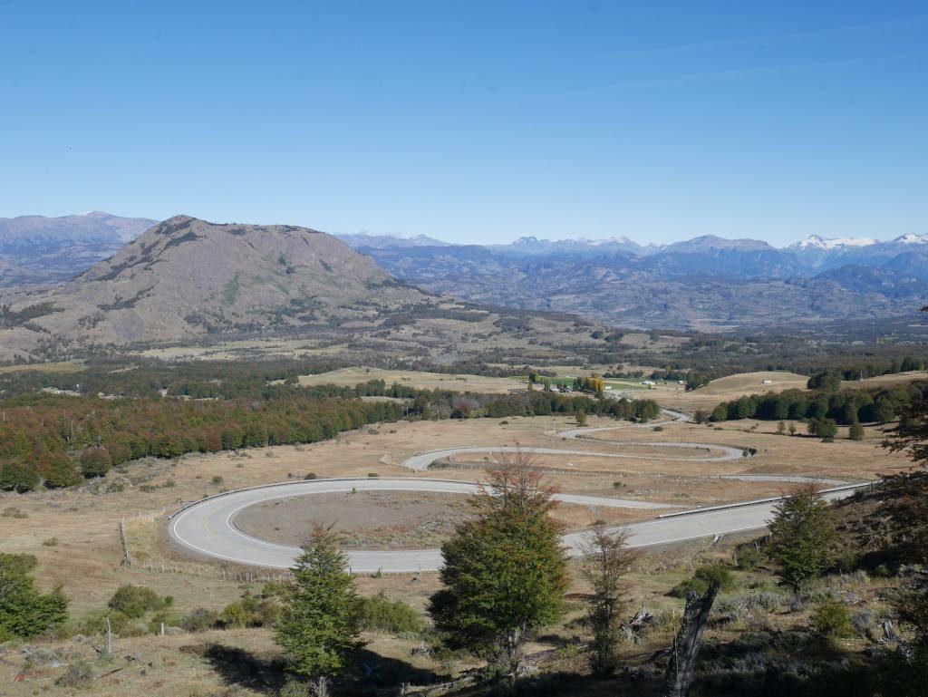 Trecho da Carretera Austral, em Aysén, na Patagonia Norte