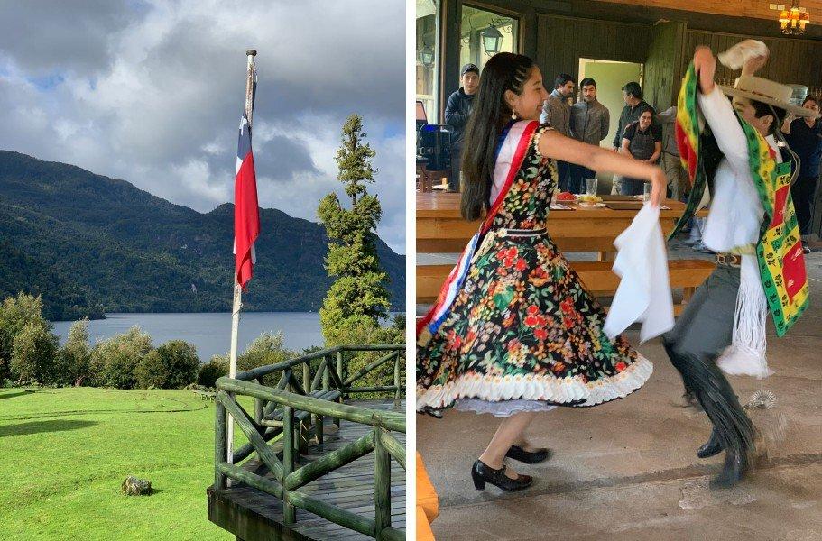 dança no Parque Aiken, Patagonia norte