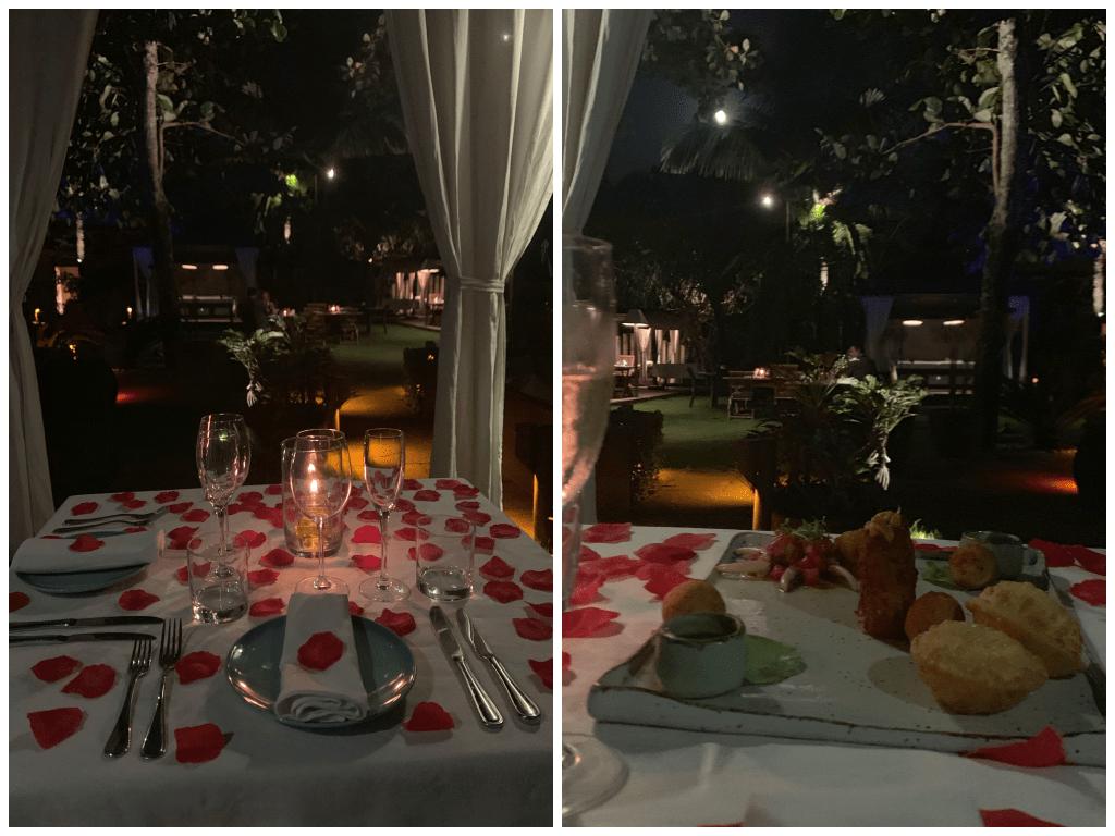 Jantar romantico no hotel Nau Royal, perto de Sao Paulo