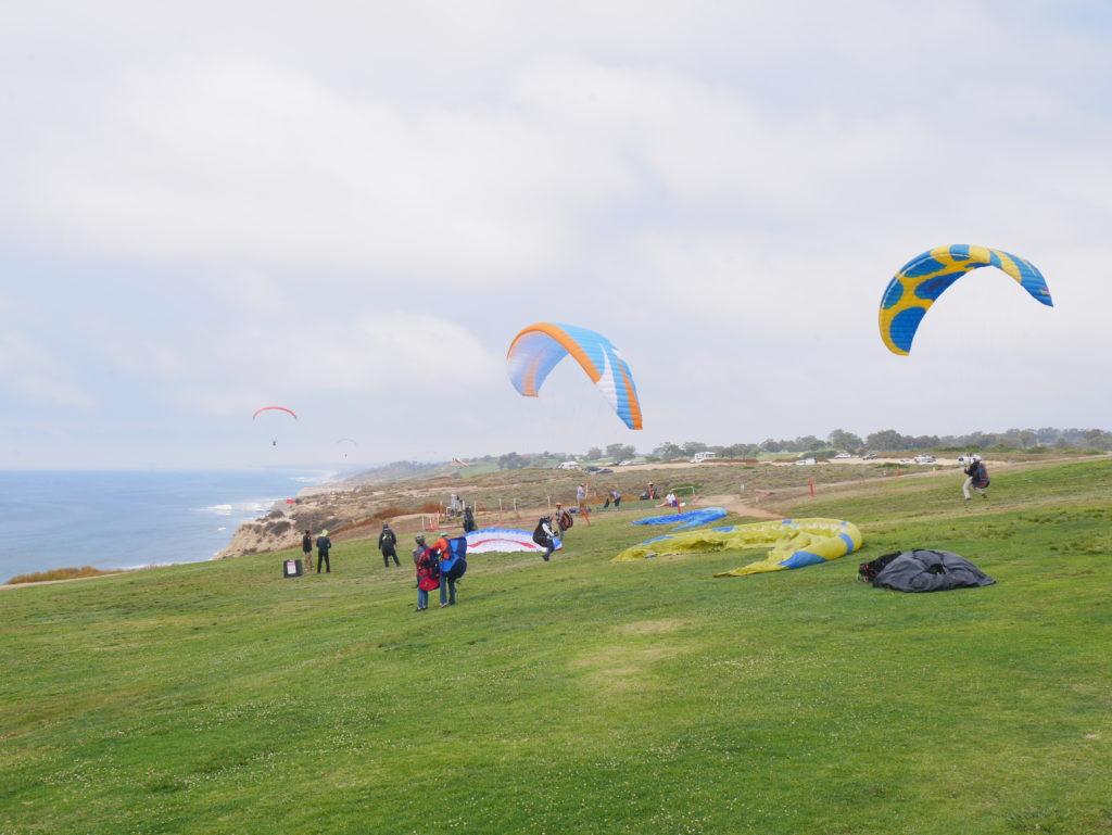 Paraglide na Blacks beach, em San Diego