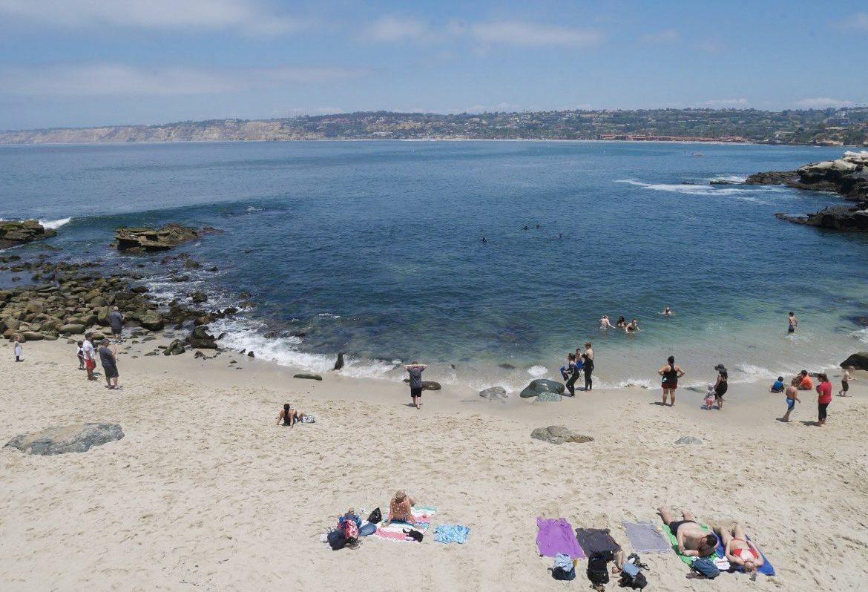 Praia de La Jolla, parada de San Diego a Los Angeles