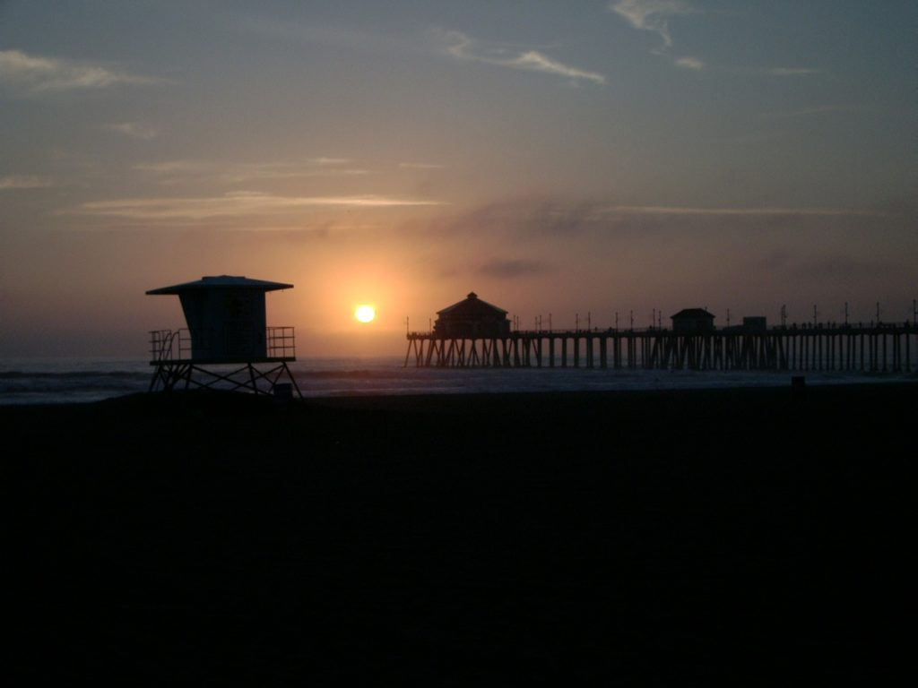 praia de Huntington Beach, na california