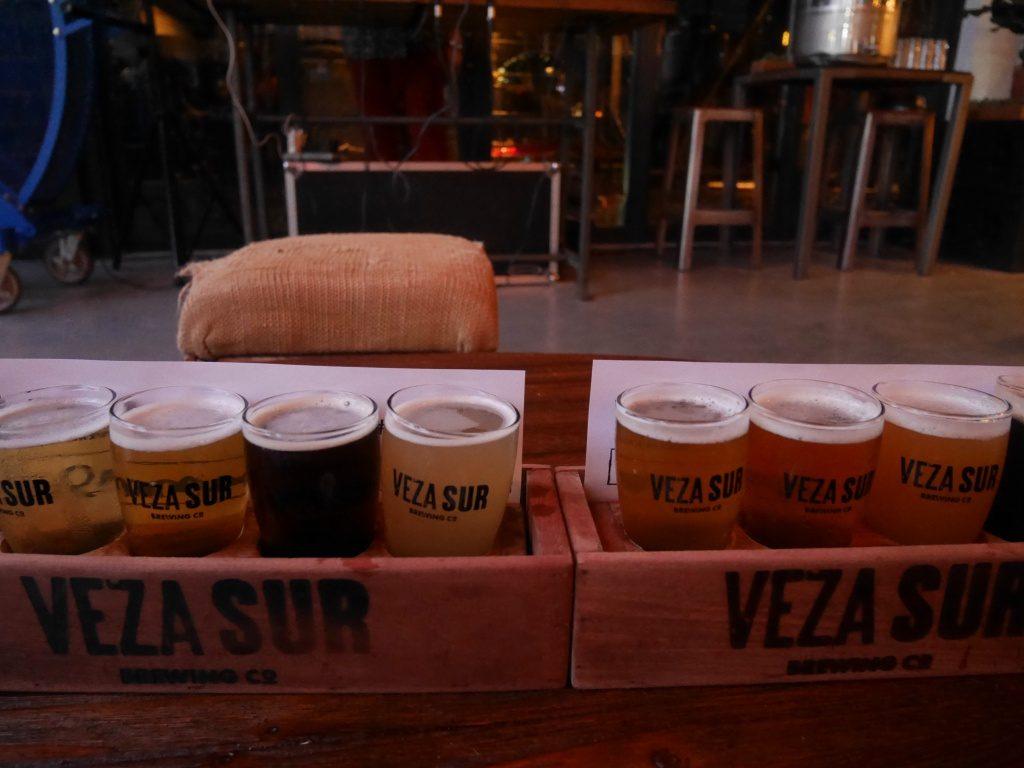 Tasting Flight, na cervejaria Veza Sur em Miami